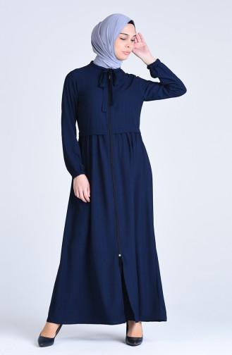Navy Blue Abaya 6856-02