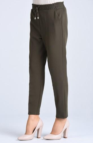 Pantalon Taille Élastique 4088-03 Vert Khaki 4088-03