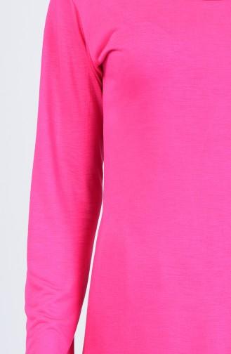 Uzun Kol Pijama Takım 0003-01 Fuşya