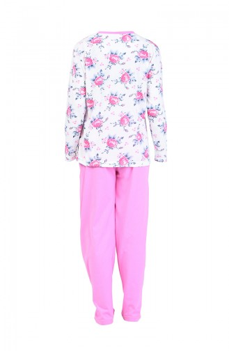 Ensemble Pyjama a Boutons 2500-03 Rose 2500-03