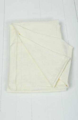 Coton 200x230 Couverture Pour Deux Personnes 10004-01 Creme 10004-01