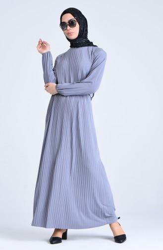 Plisee Kleid 5302-06 Grau 5302-06