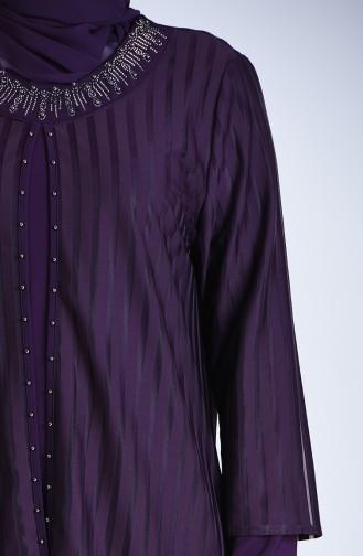 Grösse Grosse Perlen Abendkleid 1277-04 Lila 1277-04