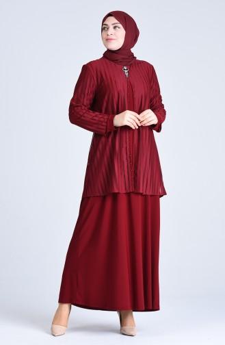 Habillé Hijab Bordeaux 1281-02