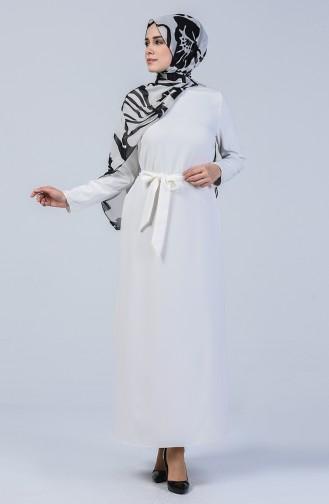 Ecru İslamitische Jurk 60087-03