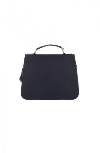 Stilgo Women s Shoulder Bag Tl20z-34 Navy Blue Patterned 20Z-34