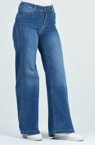 Schlaghose mit Tasche 9106-01 Jeans Blau 9106-01