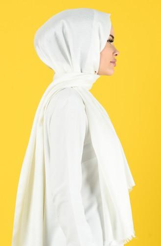 Plain Sandy Crepe Shawl 19051-24 white 19051-24