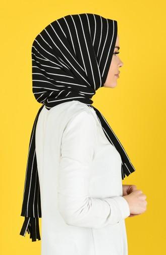 Striped Practice Shawl 1082-01 Black white 1082-01