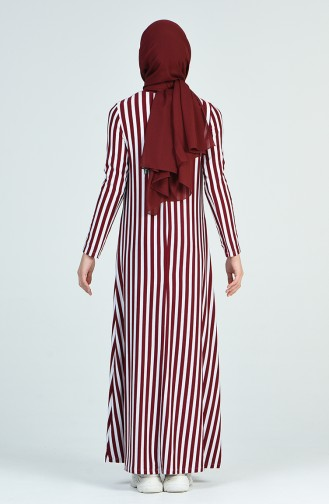 Robe a Rayures 0273-04 Bordeaux 0273-04