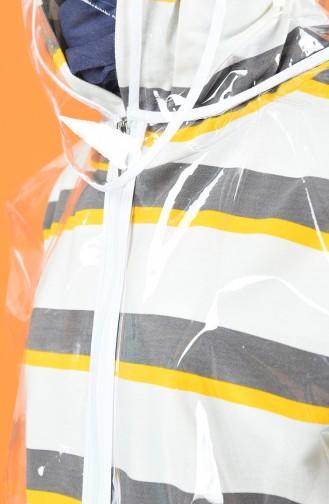 معطف واق من المطر أبيض 0019-01