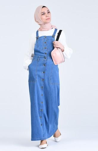 Buttoned Jeans Gilet 3636-02 Jeans Blue 3636-02
