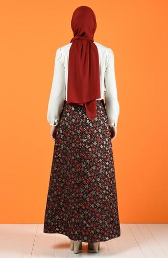 تنورة أحمر كلاريت 9040-03