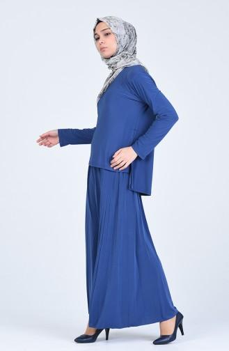 Tunik Etek İkili Takım 5303-04 İndigo