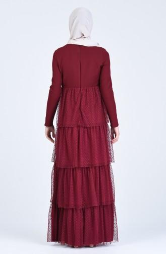 Tüll Abendkleid 60102-01 Weinrot 60102-01