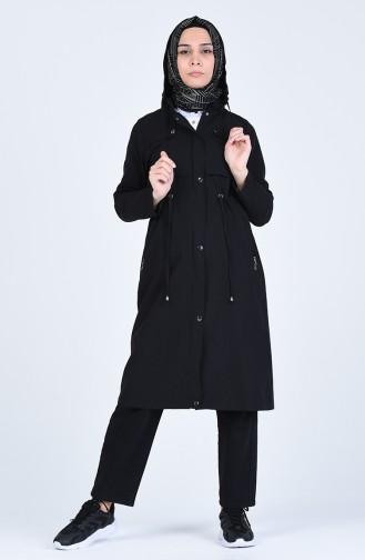 Black Trench Coats Models 6093-02