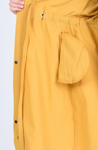 ترانش كوت أصفر خردل 6093-03