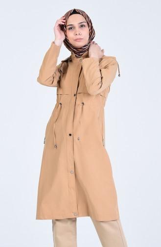 Trench Coat a Capuche 6093-04 Camel 6093-04