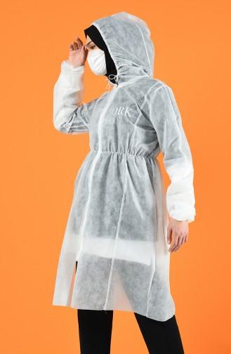 Protecteur de Vêtements avec Masque Offert 6462-01 Blanc 6462-01
