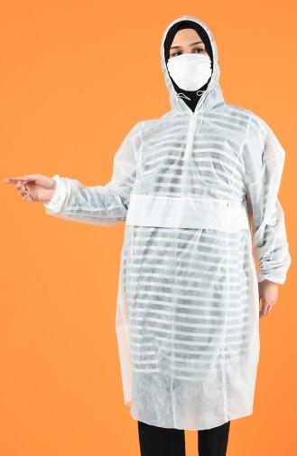 Protecteur de Vêtements avec Masque Offert 6463-01 Blanc 6463-01