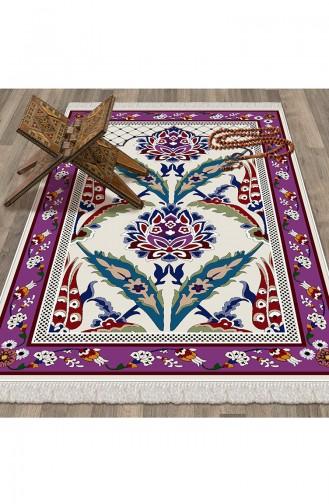 White Praying Carpet 1044