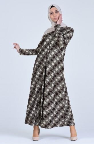 Robe a Paillettes 1382-01 Brun 1382-01