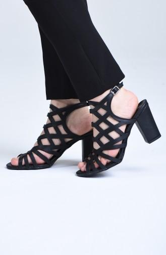 Chaussures a Talons Noir 0072-02