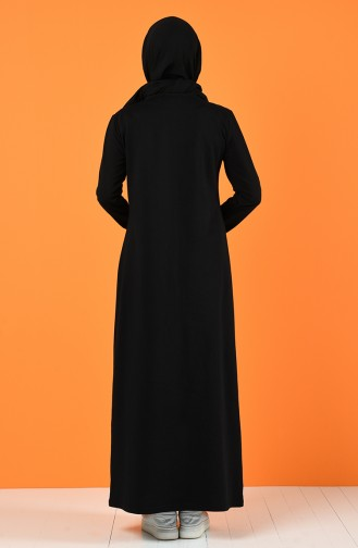Black İslamitische Jurk 5042-14