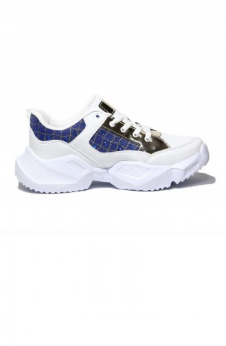 Sportmax Weiss Gold Damen Sneaker 300-23