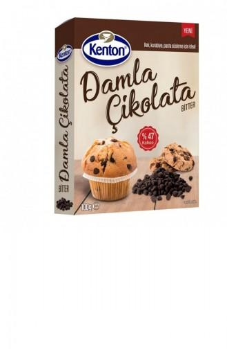 Kenton 100 Gr Damla Çikolata Bitter 1Li Paket 1203771
