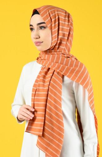 Striped Seasonal Shawl 901616-12 Orange 901616-12