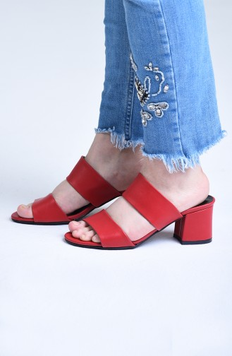 أحذية الكعب العالي أحمر 9102-03