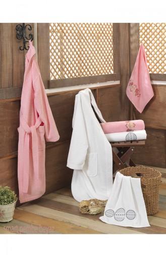 Pink Towel and Bathrobe Set 65-02