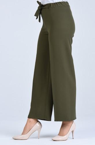 Pantalon a Ceinture 4089-07 Vert Khaki 4089-07