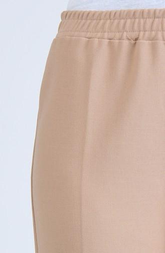 Pantalon Taille Haute 3192PNT-01 Vison Foncé 3192PNT-01