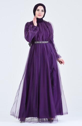Habillé Hijab Pourpre 1018-04