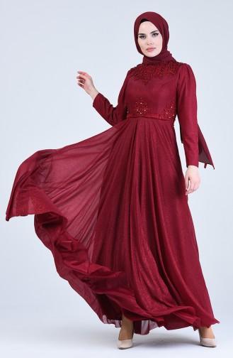 Habillé Hijab Bordeaux 1551-05