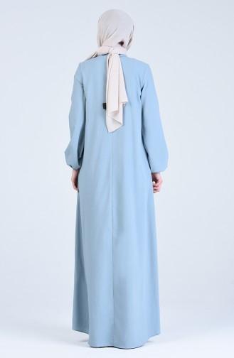 Robe Hijab Bleu Bébé 1384-06