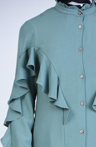 Green Overhemdblouse 1432-05