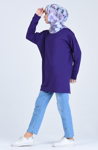 Sweatshirt Pourpre 8135-07