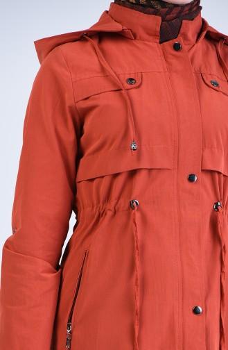 Trench Coat a Capuche 6093-08 Brique 6093-08