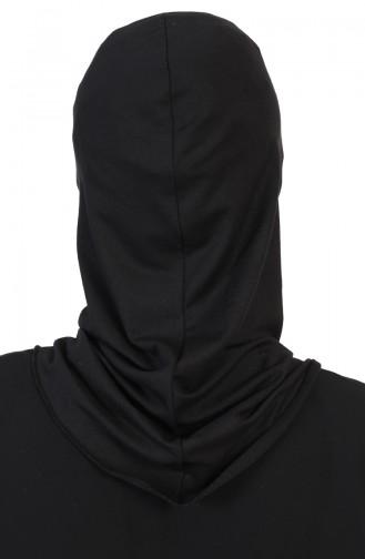 Bedeckendes Gesicht, gekämmter Bonnet   TB0002-06 Schwarz 0002-06