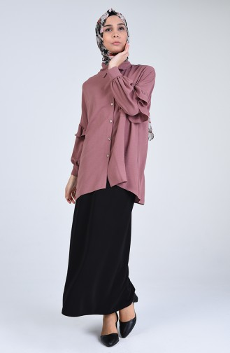 Asymmetric Tunic with Pockets 1433-06 Rose 1433-06