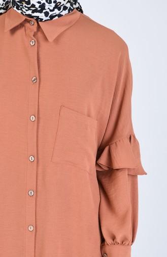 Asymmetrische Tunika mit Tasche 1433-01 Tabak 1433-01