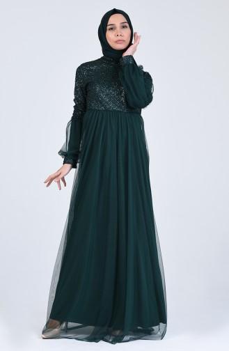 Habillé Hijab Vert emeraude 5239-06