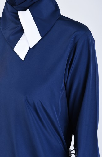 Navy Blue Swimsuit Hijab 19365-02