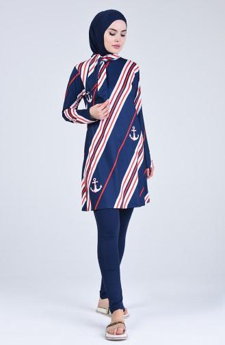 Navy Blue Swimsuit Hijab 20112-01