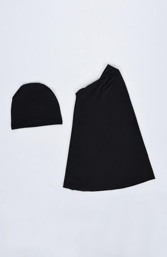 Black Swimsuit Hijab 20128-01