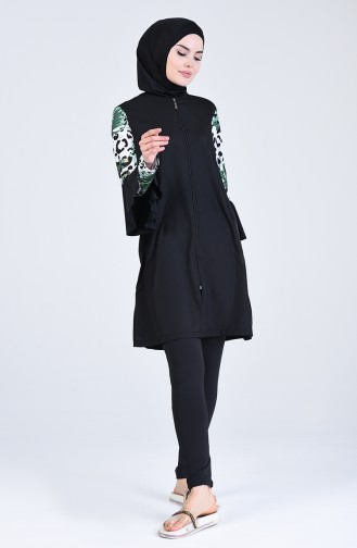Schwarz Hijab Badeanzug 20148-01