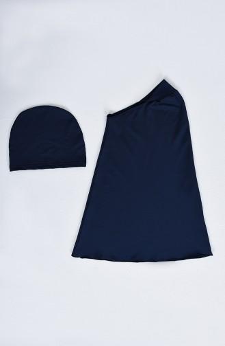 Maillot de Bain Hijab Bleu Marine 20171-01
